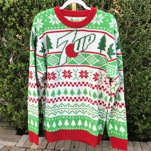 7-Up Soda Ugly Christmas Sweater Size XL
